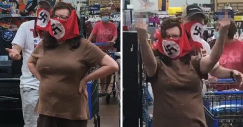 Un couple est banni d'un Walmart après avoir porté un masque à croix gammée