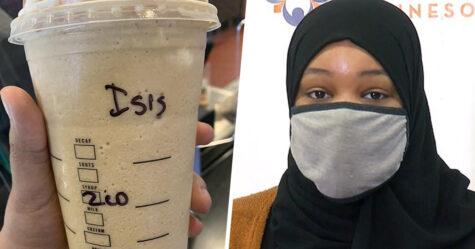Une employée de Starbucks écrit «ISIS» sur la tasse de café d'une femme musulmane