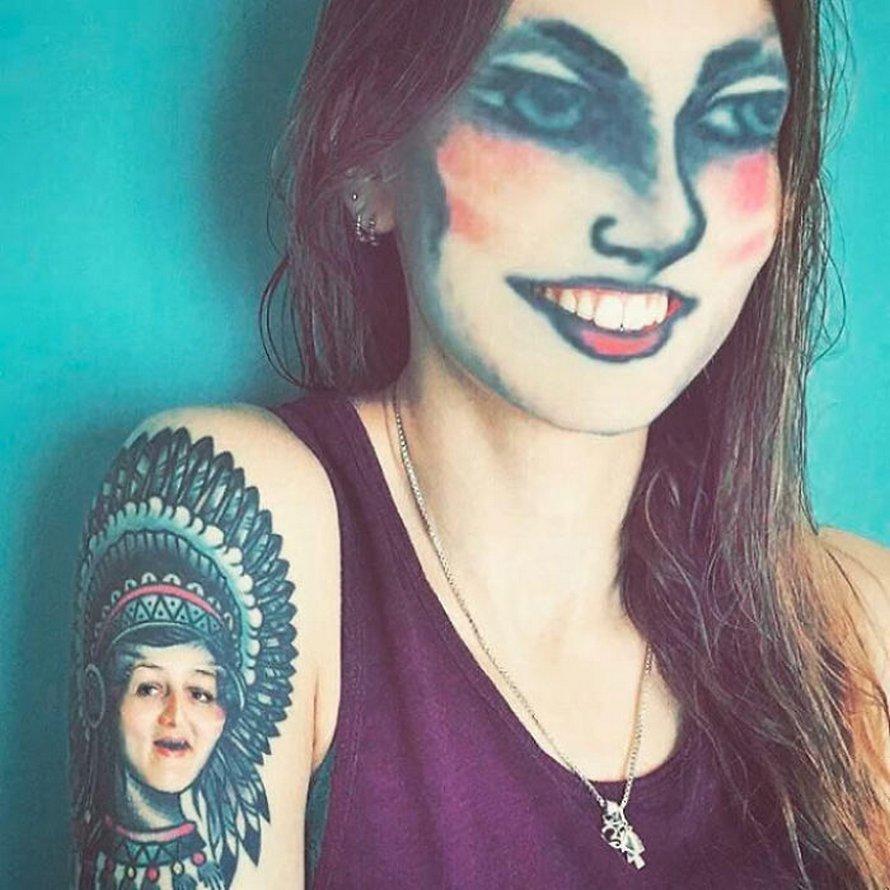 Des gens échangent leur visage avec des tatouages sur leur corps et voici 22 résultats troublants
