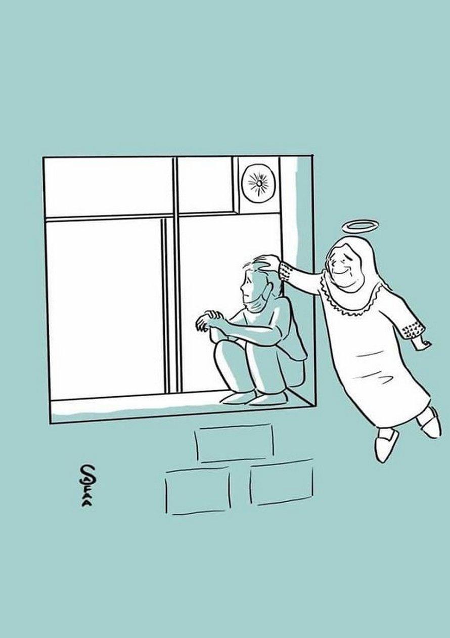 Un homme grimpe sur le mur de l'hôpital et veille sur sa mère jour et nuit jusqu'à ce qu'elle meure du Covid-19