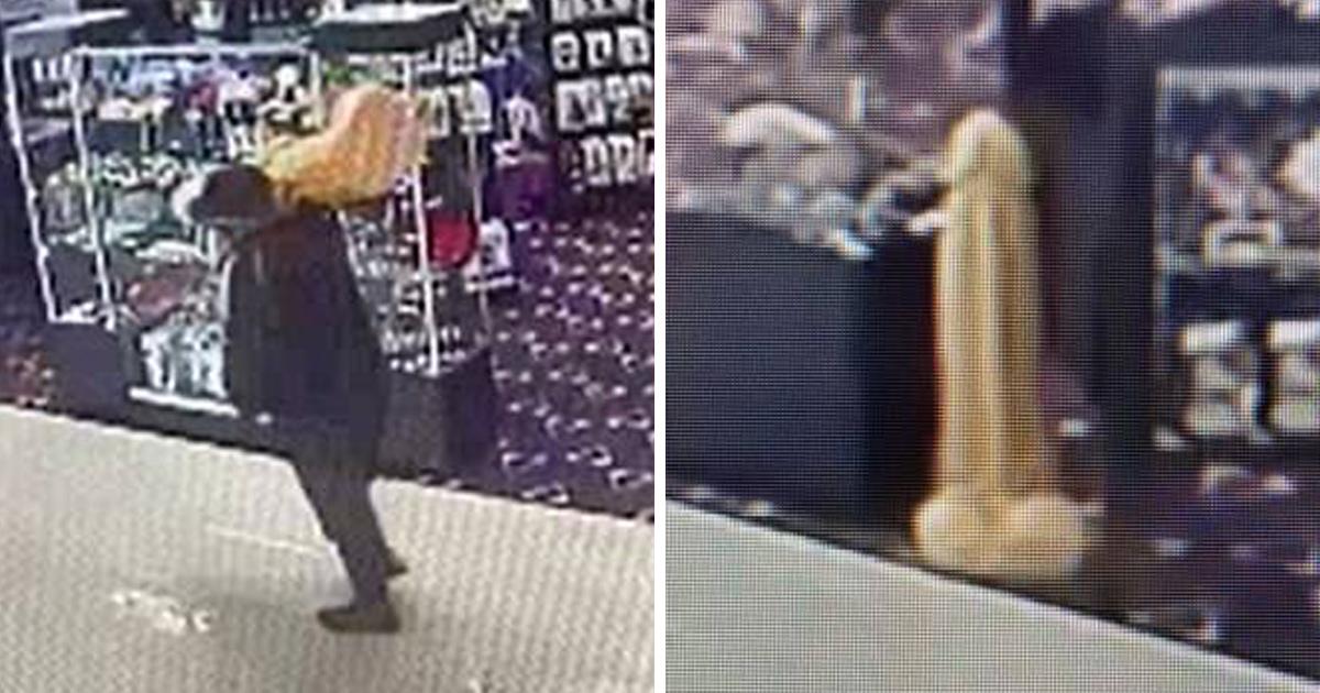Un homme qui a volé un énorme gode de 1 mètre dans un sex-shop est recherché par la police