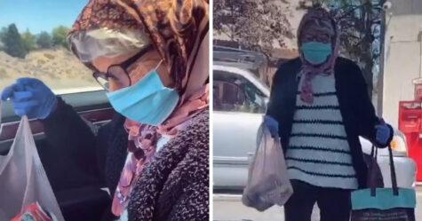 Des adolescents mineurs se déguisent en vieilles femmes avec des masques pour acheter de l'alcool