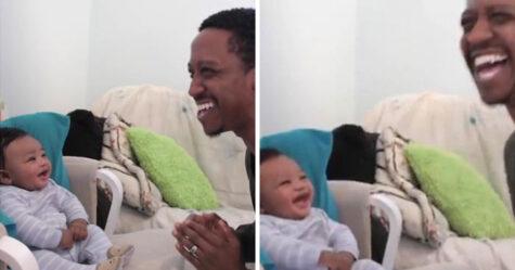 Un papa affronte son fils de 5 mois dans un rap battle, mais il est vaincu par son rire