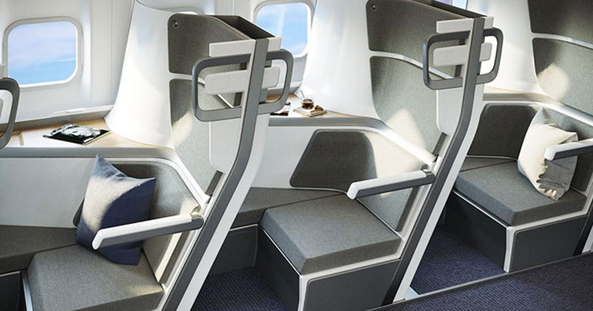 Cette nouvelle conception de sièges d'avion permet aux passagers de la classe économique de se coucher