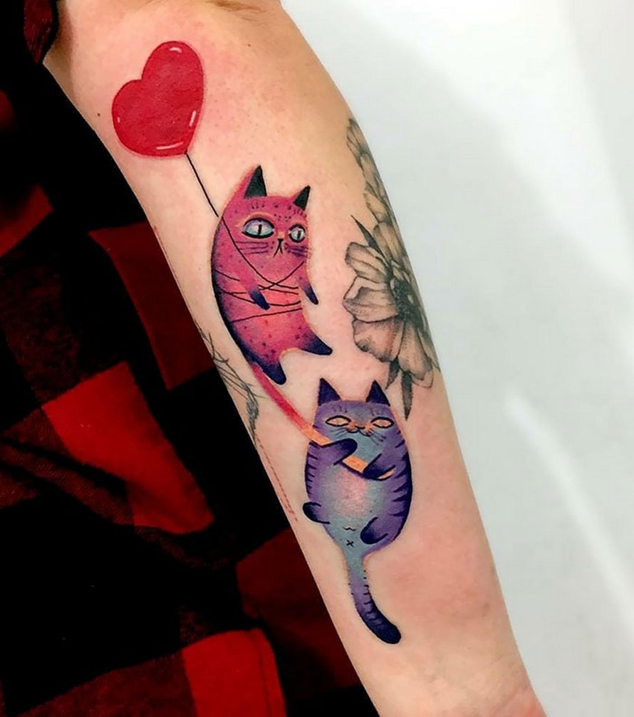 22 personnes qui ont obtenu les tatouages de chats les plus originaux