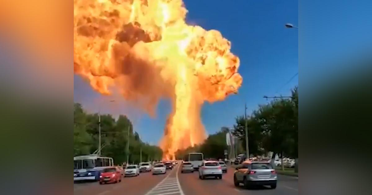 Une énorme explosion dans une station-service secoue Volgograd en Russie