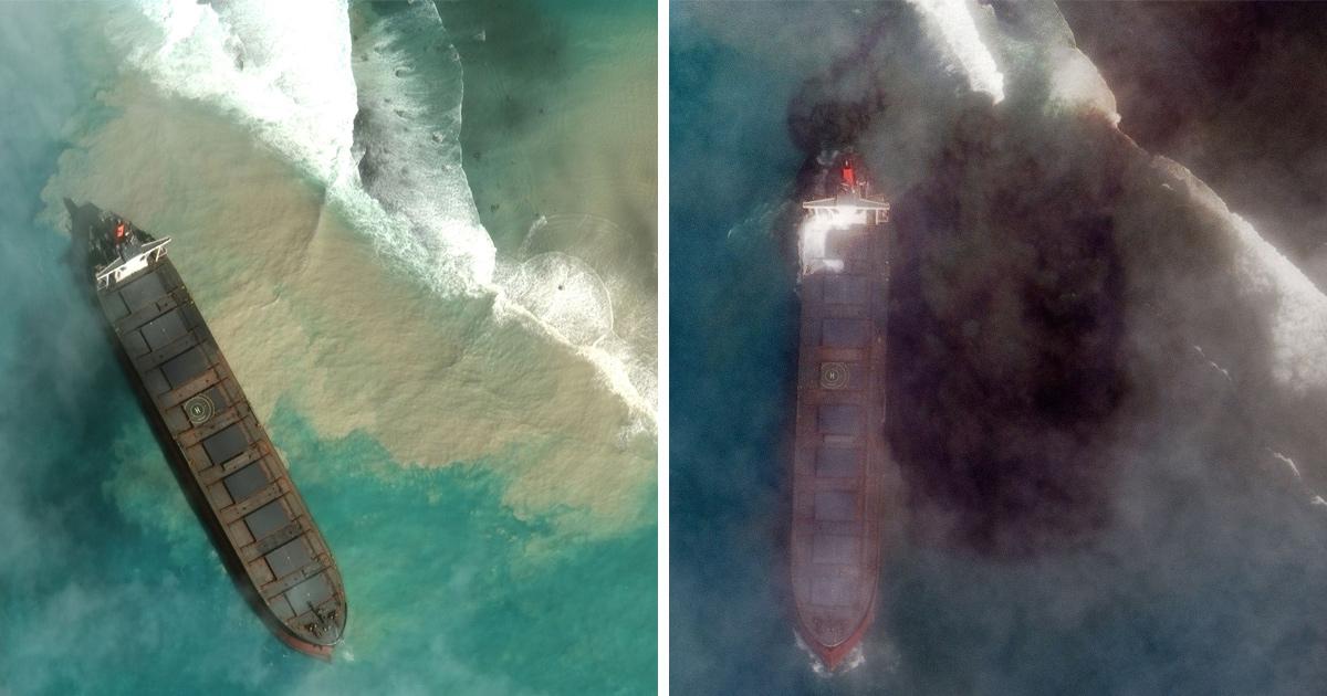 L'île Maurice déclare une urgence environnementale après le déversement massif de pétrole d'un pétrolier échoué