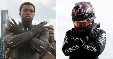 Lewis Hamilton dédie sa pole position au Grand Prix à Chadwick Boseman avec un hommage à Wakanda