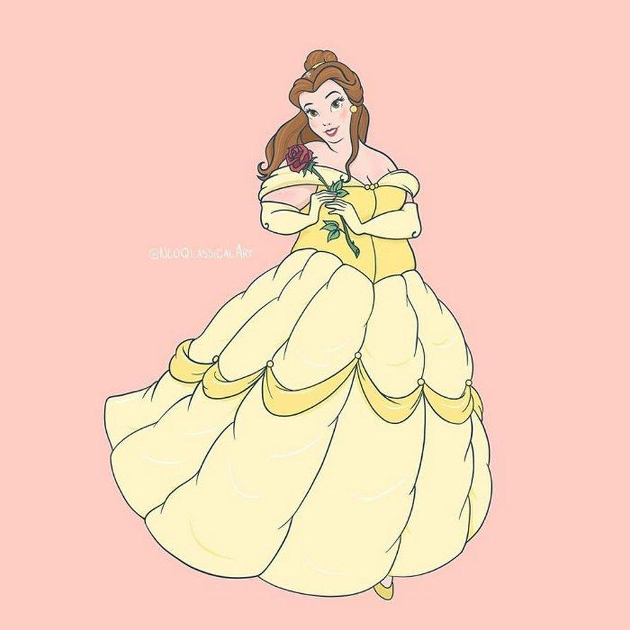 Une artiste réinvente les princesses Disney en femmes rondes et suscite un débat animé