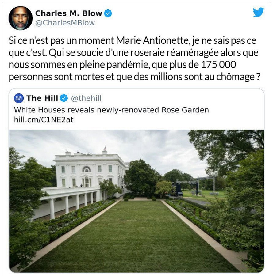 Des gens se moquent des rénovations de la roseraie de la Maison-Blanche de Melania Trump dans des messages virulents