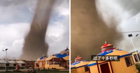Des images apocalyptiques montrent une énorme tornade dévastant une station balnéaire chinoise