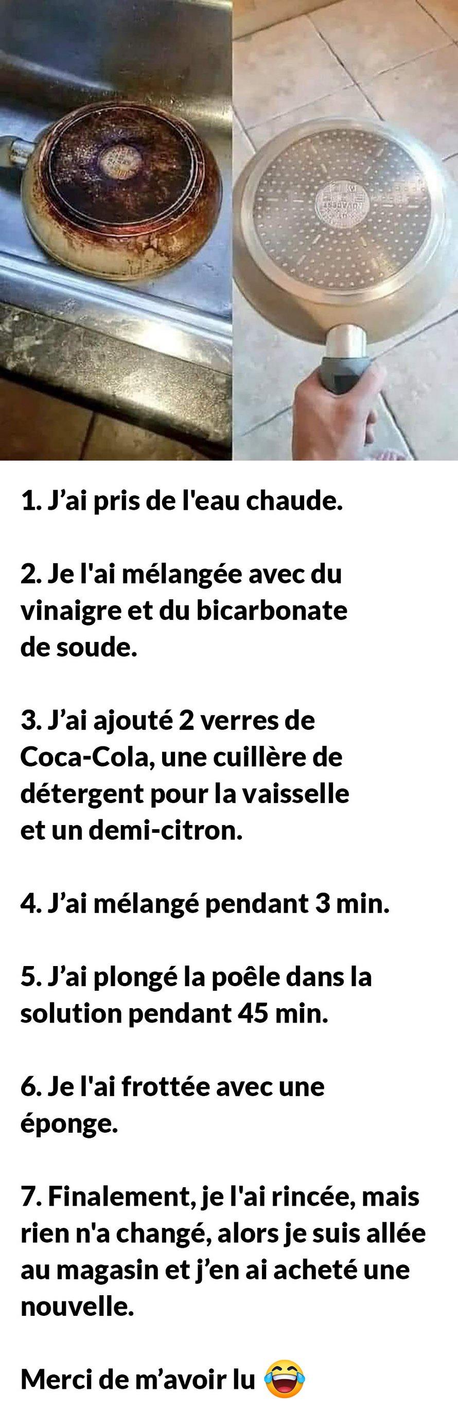 Voici les 7 étapes que j'ai suivies pour obtenir une poêle neuve