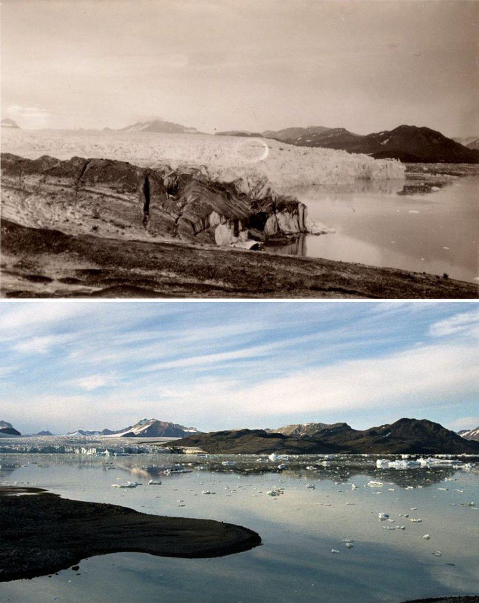Ces photos troublantes montrent ce que 100 ans de changements climatiques ont fait aux glaciers de l'Arctique