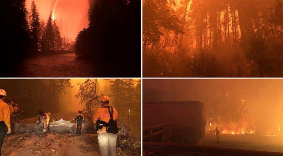 Des gens partagent des photos de l'enfer qui se déroule actuellement sur la côte ouest