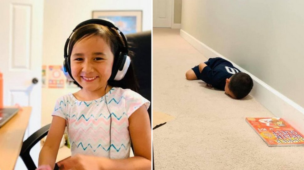 10 photos d'enfants aux prises avec l'enseignement à distance qui sont à la fois déprimantes et hilarantes