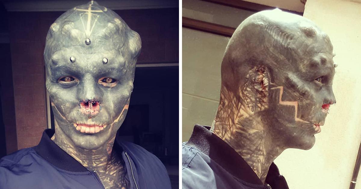 Cet homme s'est fait enlever le nez et fendre la langue pour ressembler à un extraterrestre