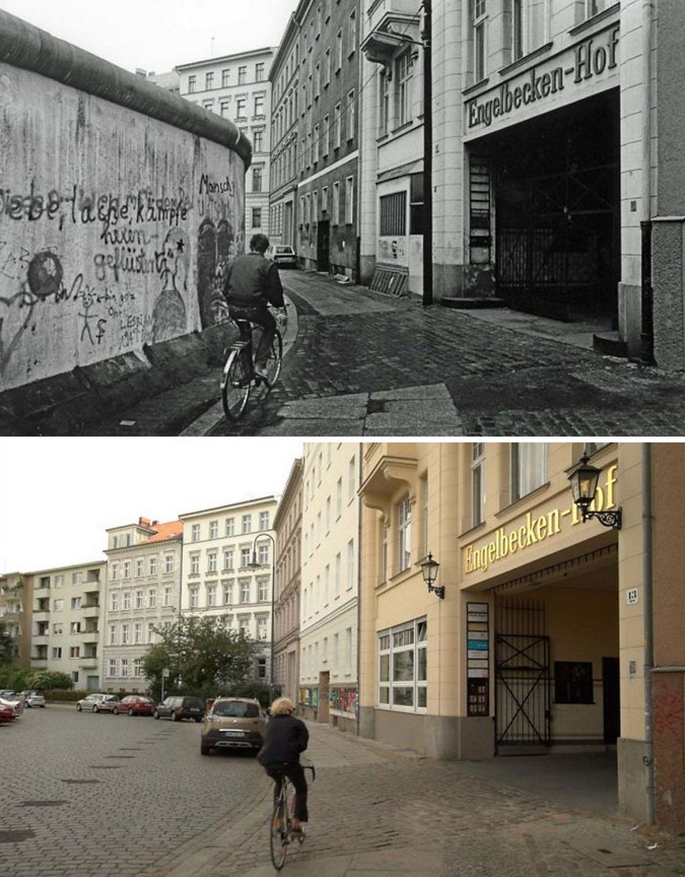 Des gens partagent des photos «hier et aujourd'hui» pour montrer comment le temps change les choses