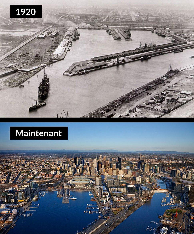 22 photos avant et après qui montrent comment certaines villes célèbres ont changé au fil du temps