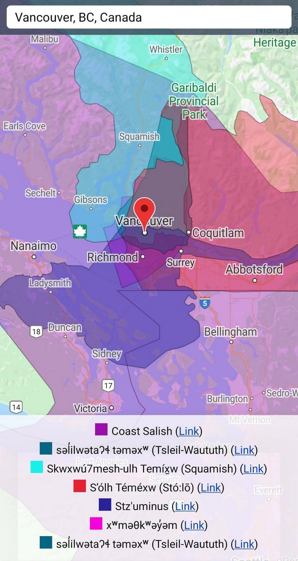 Cette carte tribale de l'Amérique montre à qui appartenait la terre sur laquelle tu habites