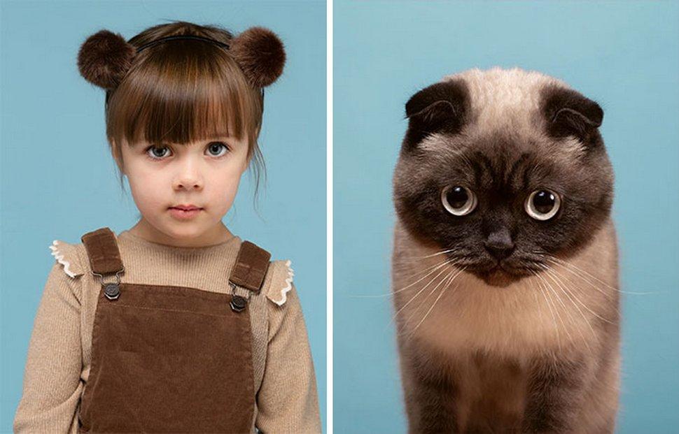 Ce photographe a pris des photos de 17 chats et humains qui sont des sosies