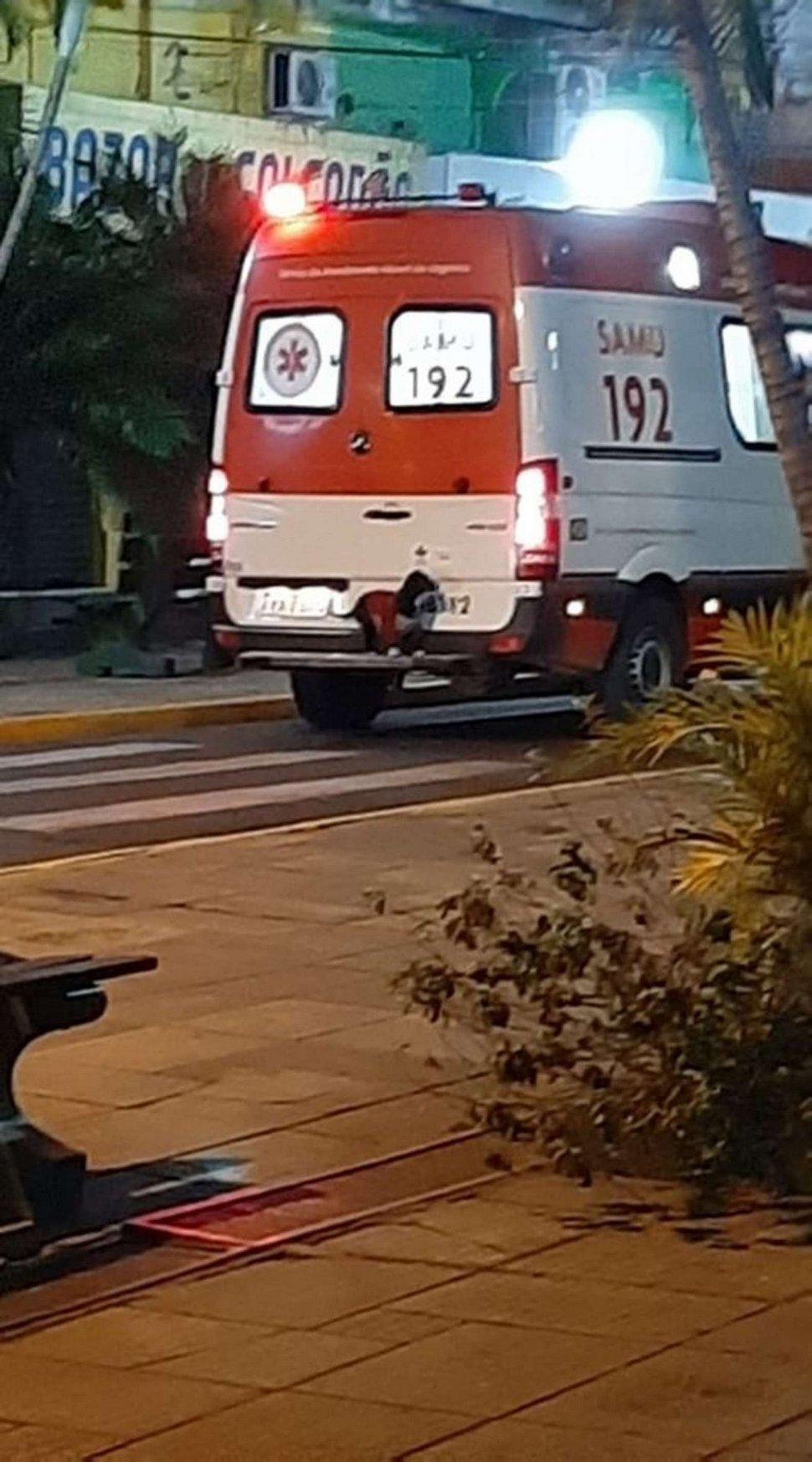 Un chien fidèle saute sur une ambulance pour suivre son maître à l'hôpital