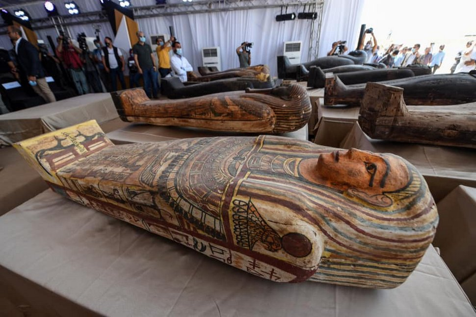 L'Égypte met au jour 59 sarcophages anciens pour la première fois en 2500 ans