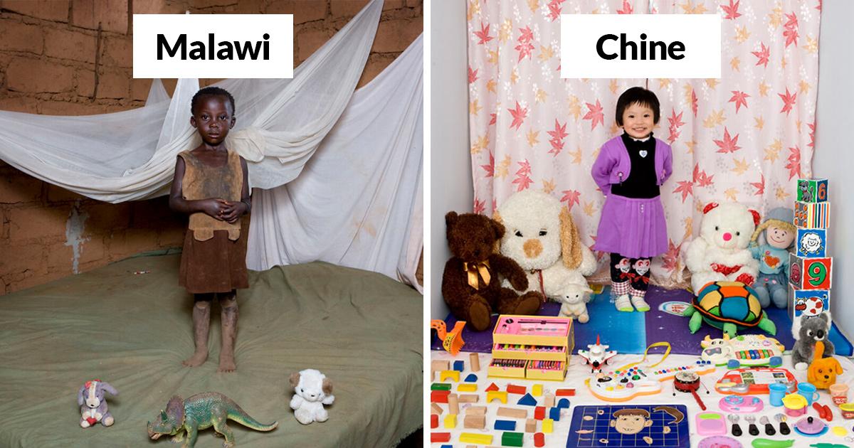 Ces enfants du monde entier ont présenté leurs jouets préférés dans cette série triste et touchante
