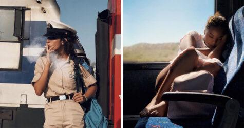 Cette femme utilise son iPhone pour capturer des portraits d'inconnus sur le chemin du travail