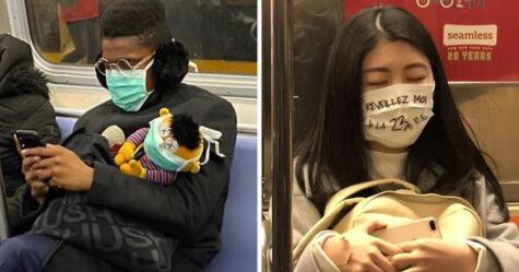 22 fois où des gens ont vu les masques les plus étranges et les plus originaux dans le métro