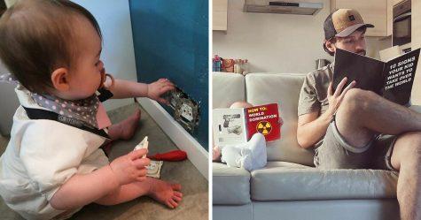 «Il y a un an, j'ai commencé à envoyer ces photos à ma petite amie chaque fois qu'elle me demandait si notre bébé allait bien»