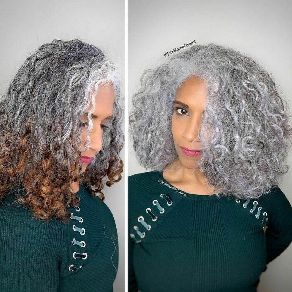 Plutôt que de teindre les racines grises, ce coloriste encourage ses clientes à les apprécier (22 nouvelles images)