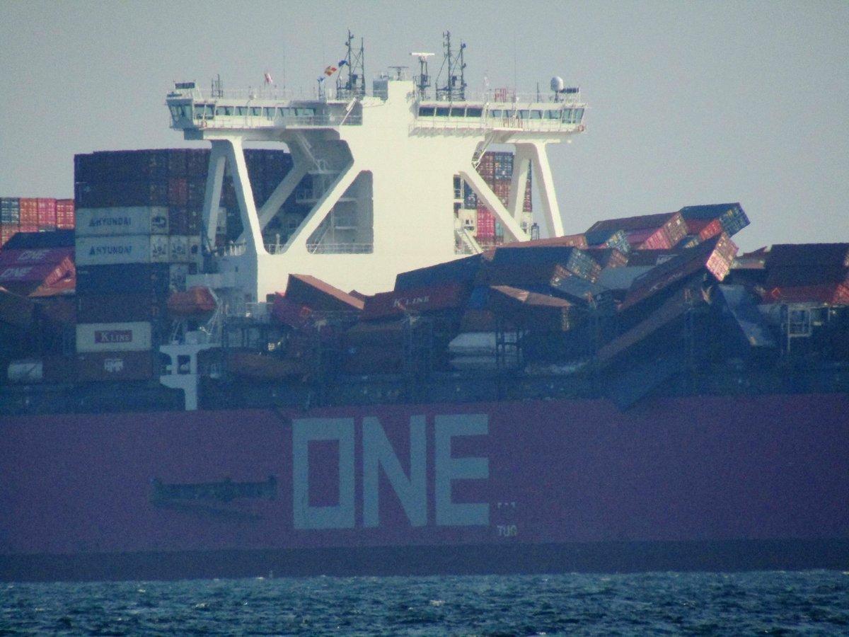 Un cargo perd près de 2000 conteneurs par-dessus bord lors d'une tempête