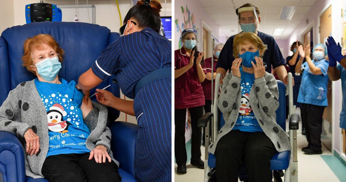 Cette femme de 90 ans est devenue la première patiente au monde à recevoir le vaccin contre la Covid-19