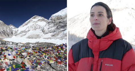 Cette alpiniste française a organisé un nettoyage massif de l'Everest et a nettoyé 8,5 tonnes de déchets
