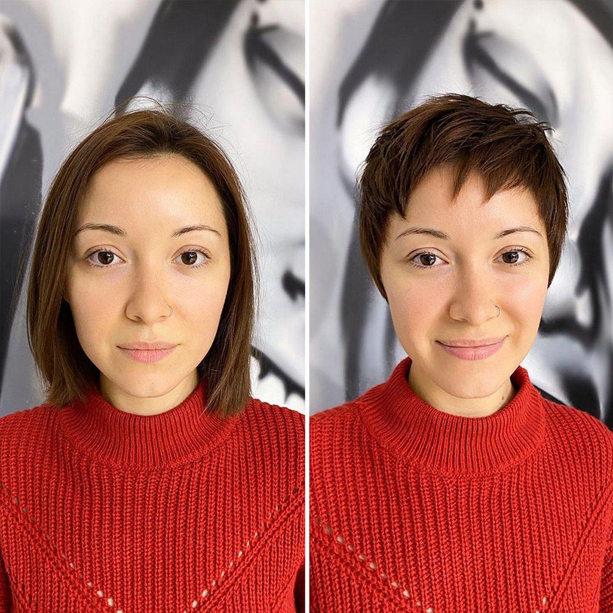 Une coiffeuse présente 22 femmes qui ont pris le risque de se couper les cheveux courts et ne l'ont pas regretté