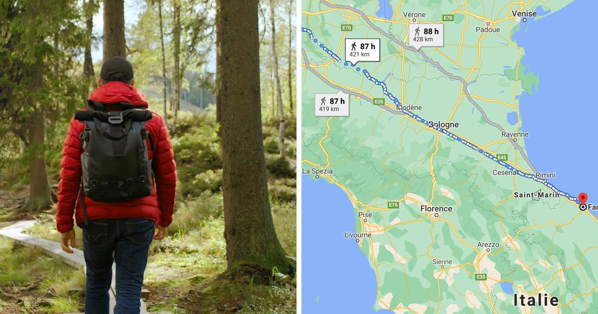 Un homme italien parcourt 450 km à pied pour se calmer après s'être disputé avec sa femme