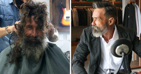 Cet homme sans-abri a été retrouvé par sa famille qui le croyait mort depuis 10 ans après que les photos de sa transformation sont devenues virales