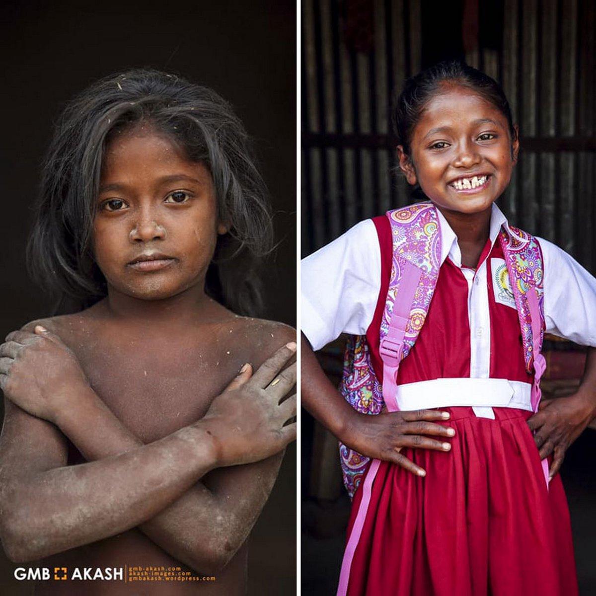 19 photos avant et après qui montrent comment la vie des enfants travailleurs du Bangladesh a changé après que ce photographe a financé leur éducation