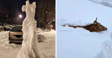 22 photos étonnantes de la plus importante chute de neige en Espagne depuis des décennies