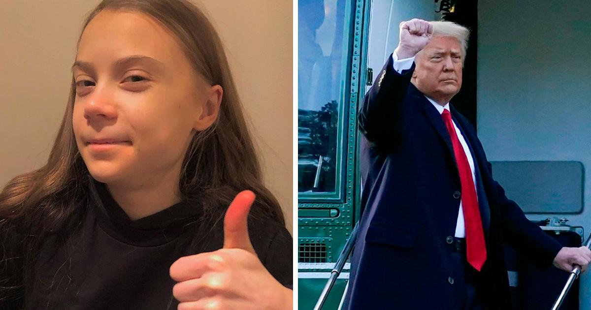 Greta Thunberg se moque de Donald Trump et le traite de «vieil homme heureux» alors qu'il quitte la Maison-Blanche