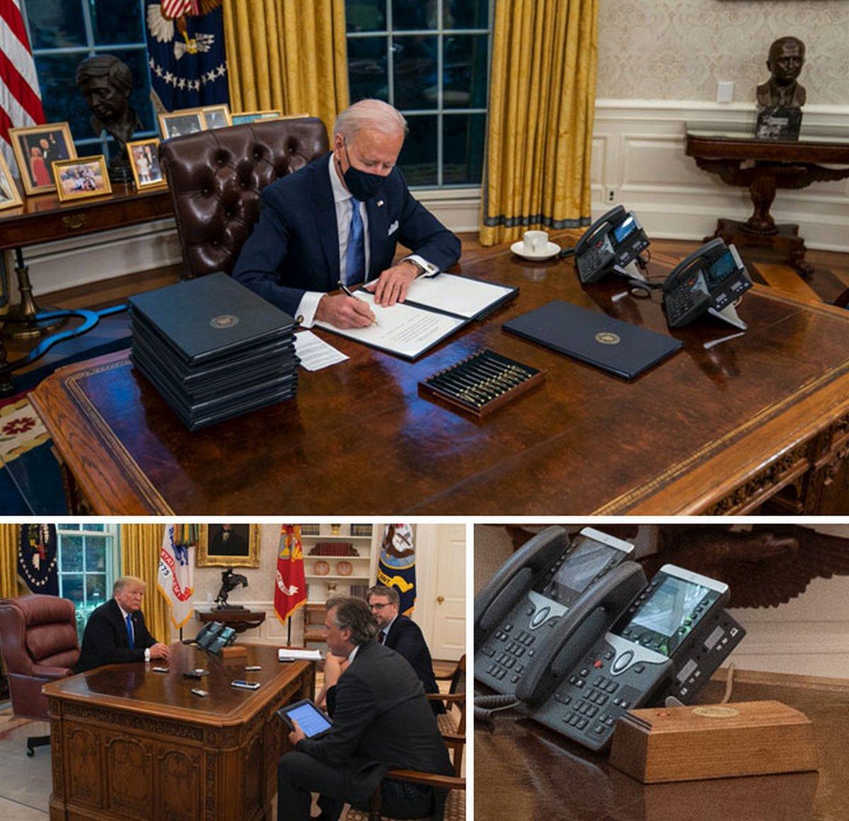 18 photos qui montrent les différences entre le Bureau ovale de Biden et celui de Trump