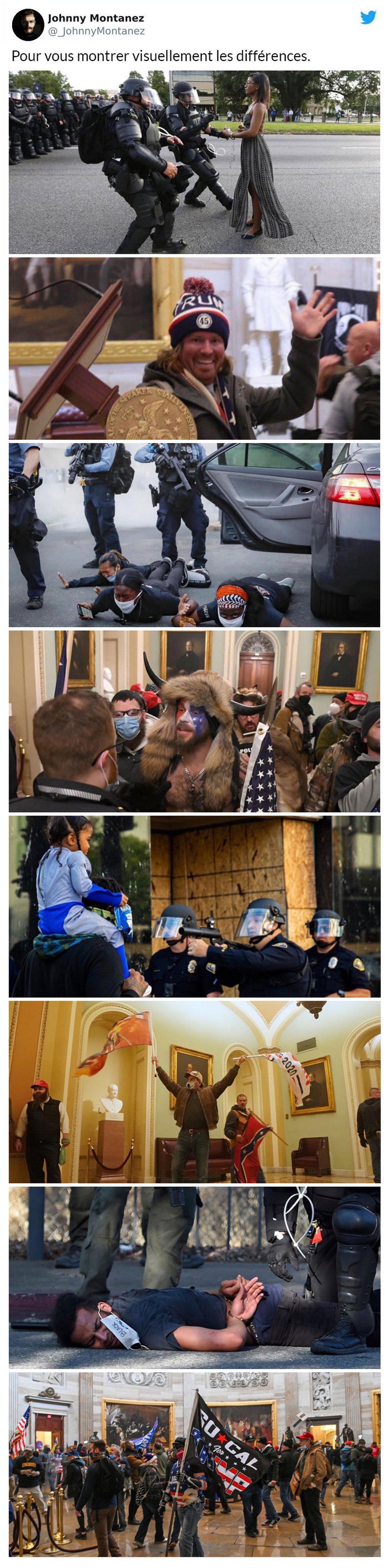 15 réactions des gens aux événements du Capitole des États-Unis