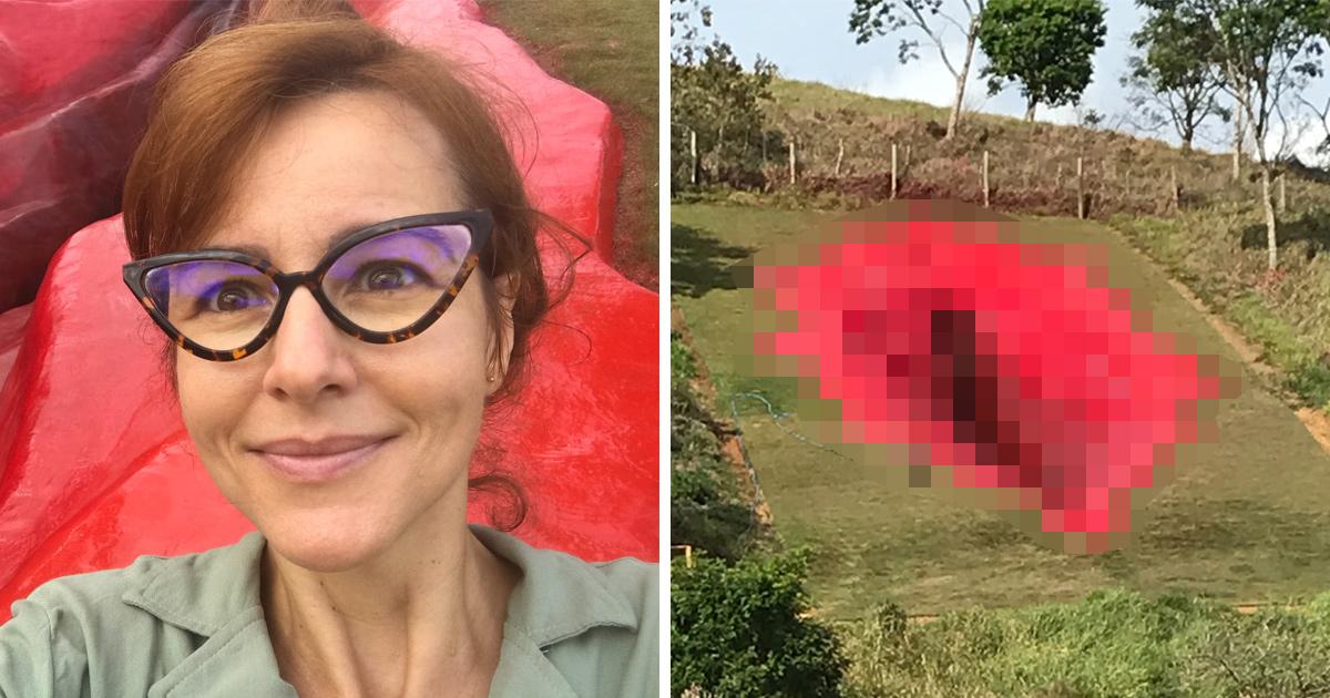 Une artiste construit une sculpture d'un vagin de 33 mètres de long sur une colline brésilienne et soulève l'indignation