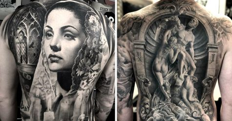 22 tatouages fascinants par un artiste suédois spécialisé dans le réalisme noir et gris