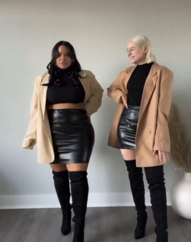 Ces deux amies montrent à quoi ressemble la même tenue sur leurs différents types de corps (nouvelles images)