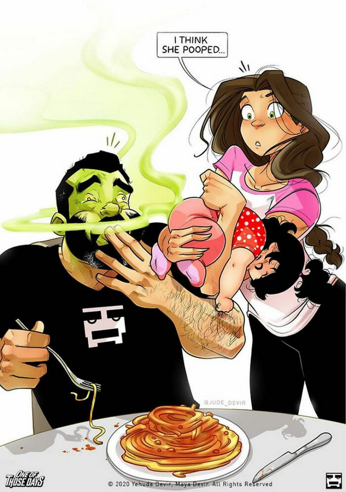 Cet artiste qui dessine son quotidien avec sa femme va avoir un autre bébé et il montre leurs luttes parentales en 22 illustrations