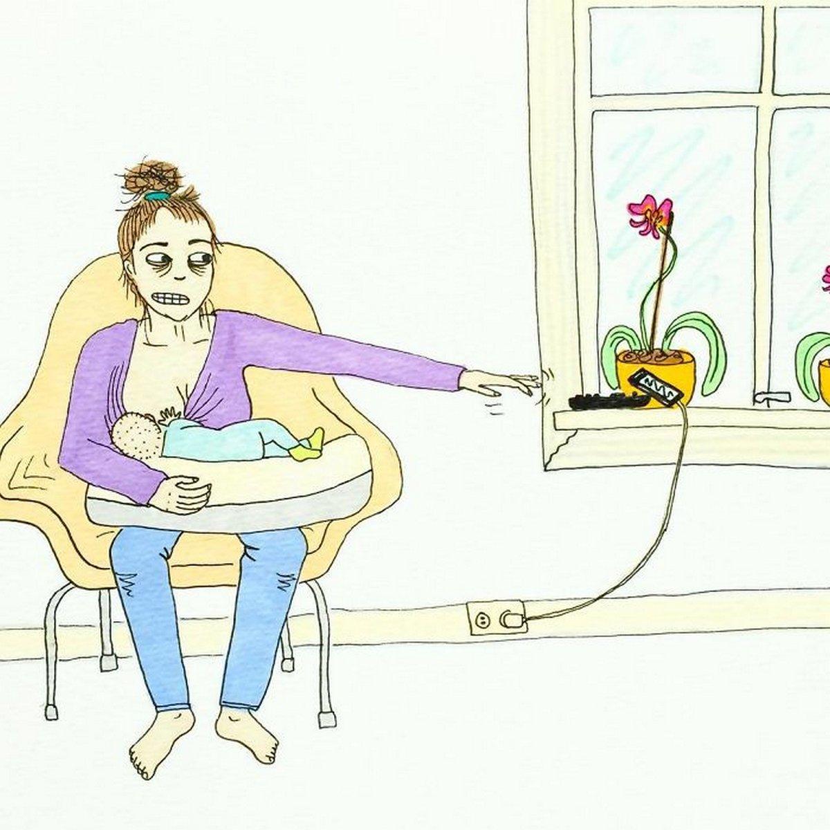 Cette mère montre à quoi ressemble vraiment la maternité dans ces 22 illustrations non censurées
