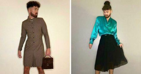 Cet homme prouve que les vêtements n'ont pas de genre en portant des robes et des jupes