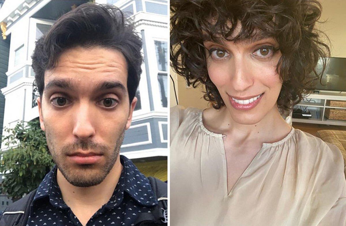 Cette femme a révélé ses photos de transition après avoir pris des hormones pendant 14 mois