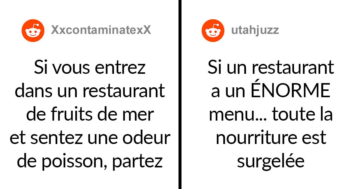 Ces chefs révèlent les «signaux d'alerte» des restaurants qui indiquent que vous devriez manger ailleurs